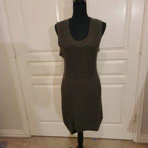 BCBG Maxazria Sleeveless Cable Knit Sweater Dress